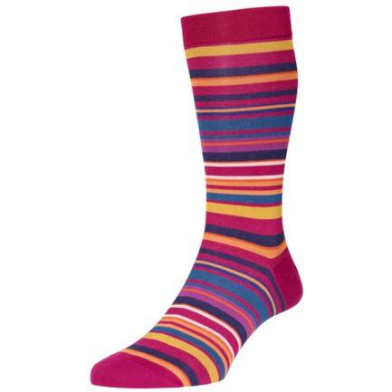 Navai Fuchsia Stripe Socks