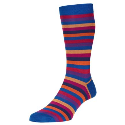 Helford Orange stripe socks